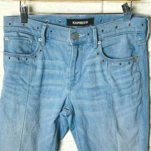 Express Jeans Size 8 Long Ankle Legging Mid Rise